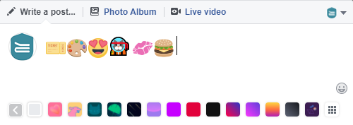 Facebook emoji using Windows emoji window